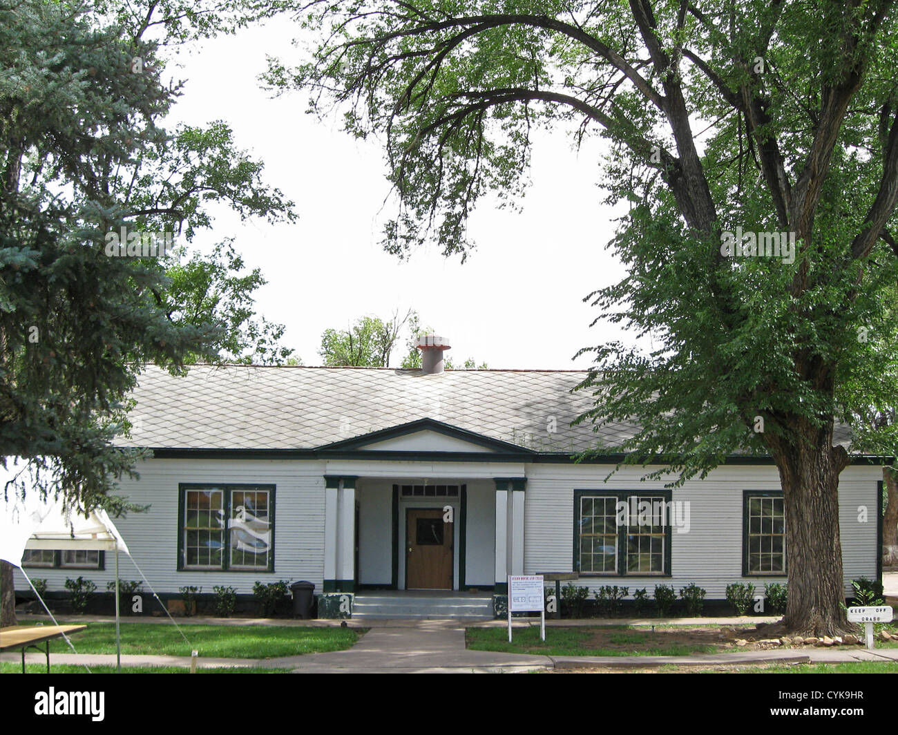 Guard house and cells building at fort stanton new mexico stock image