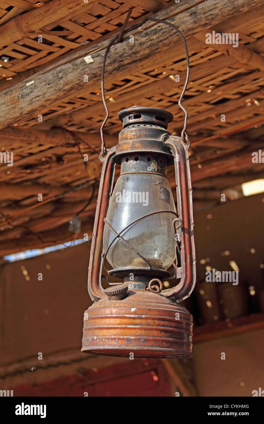 Antique Lantern Kerosene Lamp Light Metal Object
