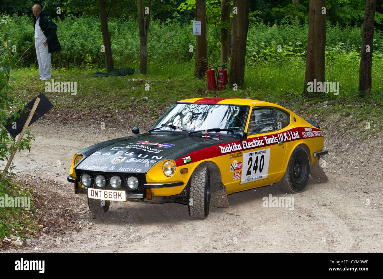 Datsun 240z stock photos datsun 240z stock images alamy 1972 datsun 240z with driver kevin bristow at the 2012 goodwood festival of speed sussex vanachro Gallery