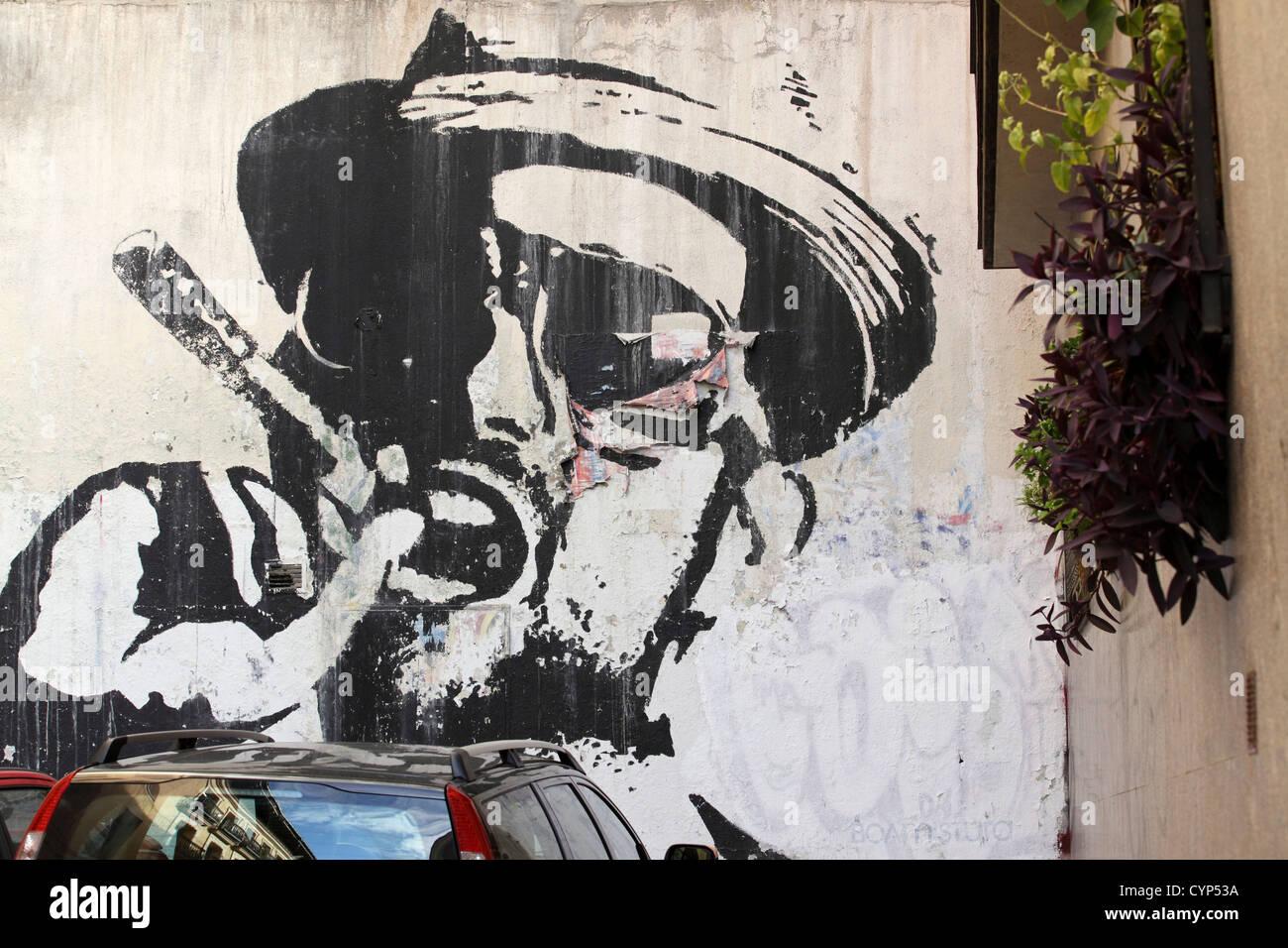 Graffiti wall black - Street Art Graffiti Wall Painting Self Expression Madrid Spain
