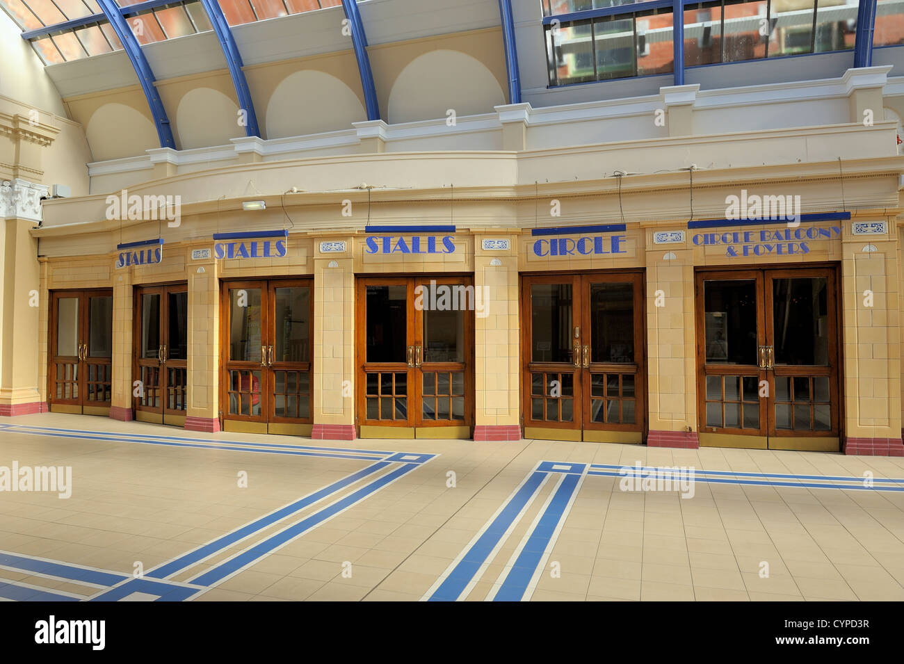 winter gardens blackpool lancashire england uk stock photo
