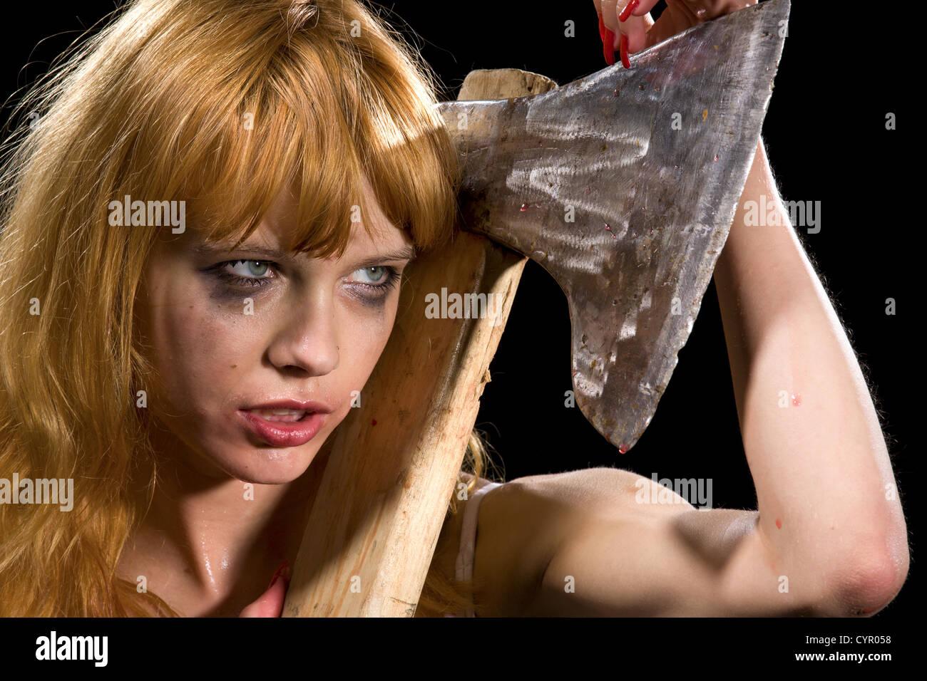 Redhead wild girl