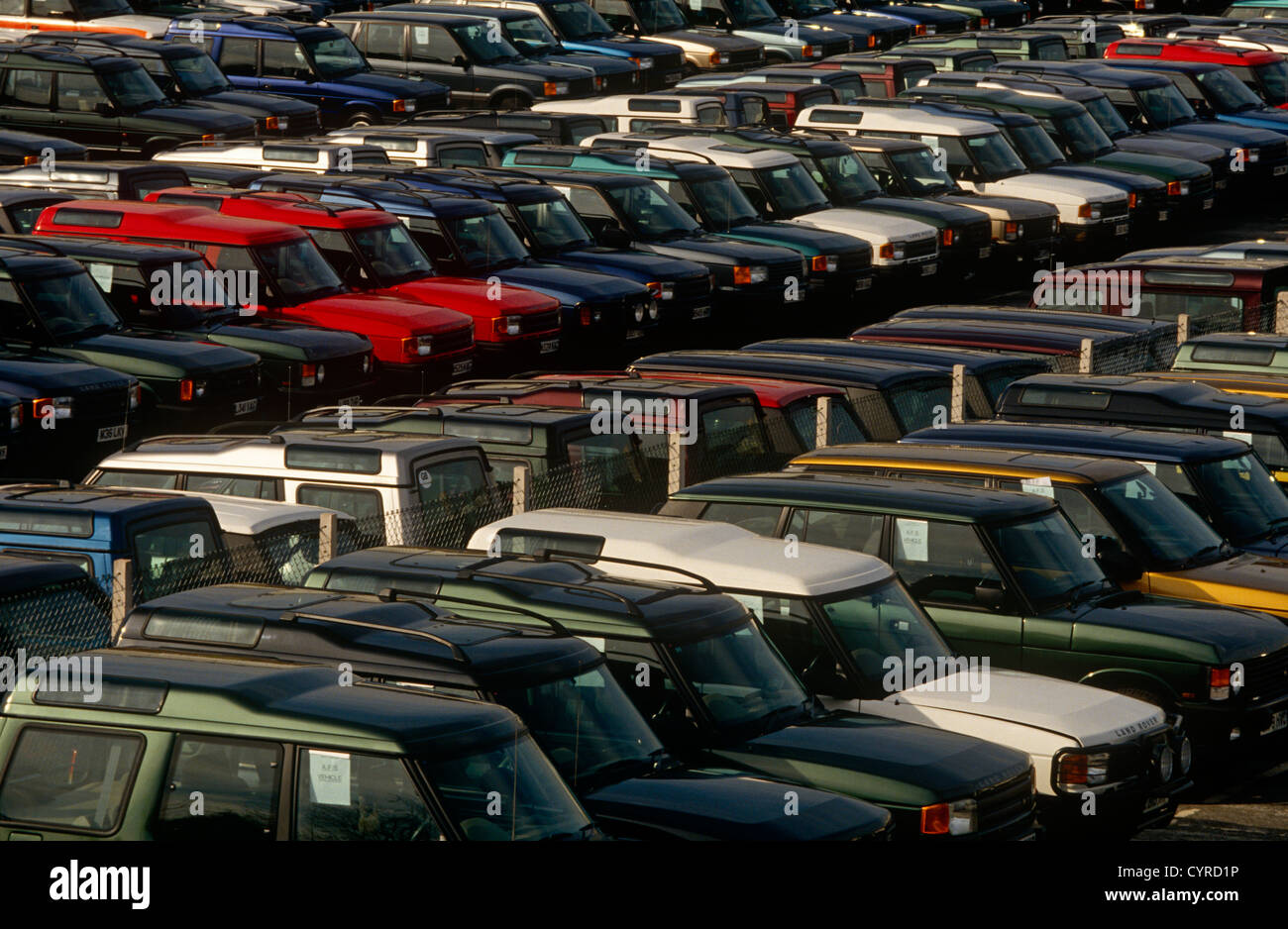 Thousands of unsold 4x4 cars are parked outside the German BMW ...