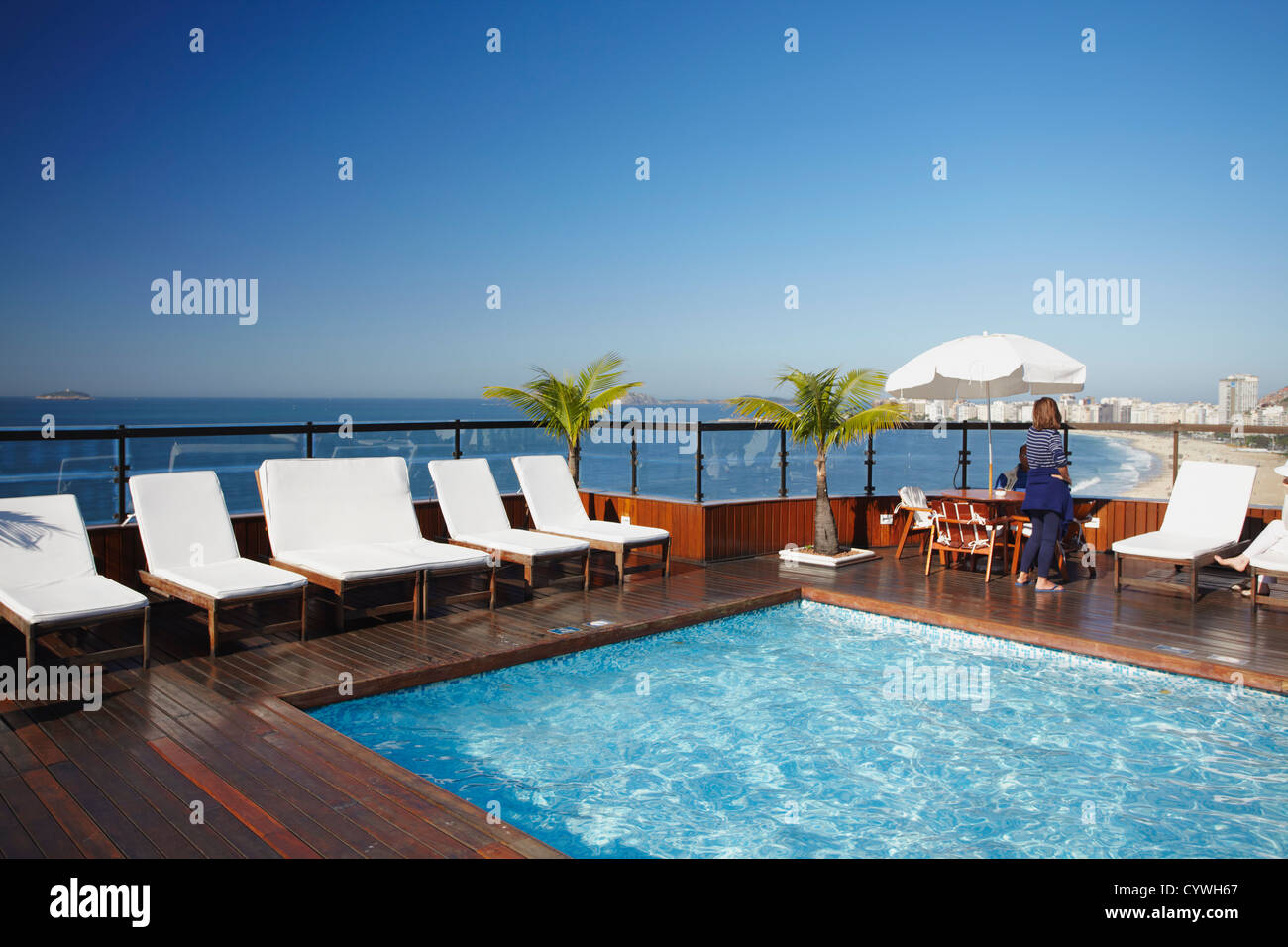 Rooftop Pool In Porto Bay Rio Hotel Copacabana Rio De Janeiro Stock Photo Royalty Free Image
