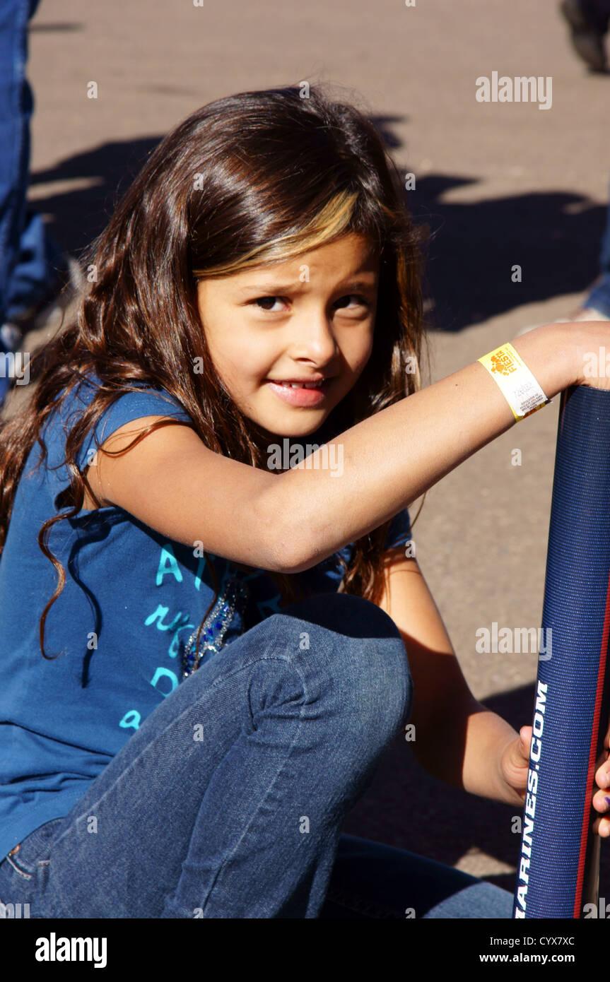 Cute Hispanic Latino Girl Child Kid Caught Of Guard