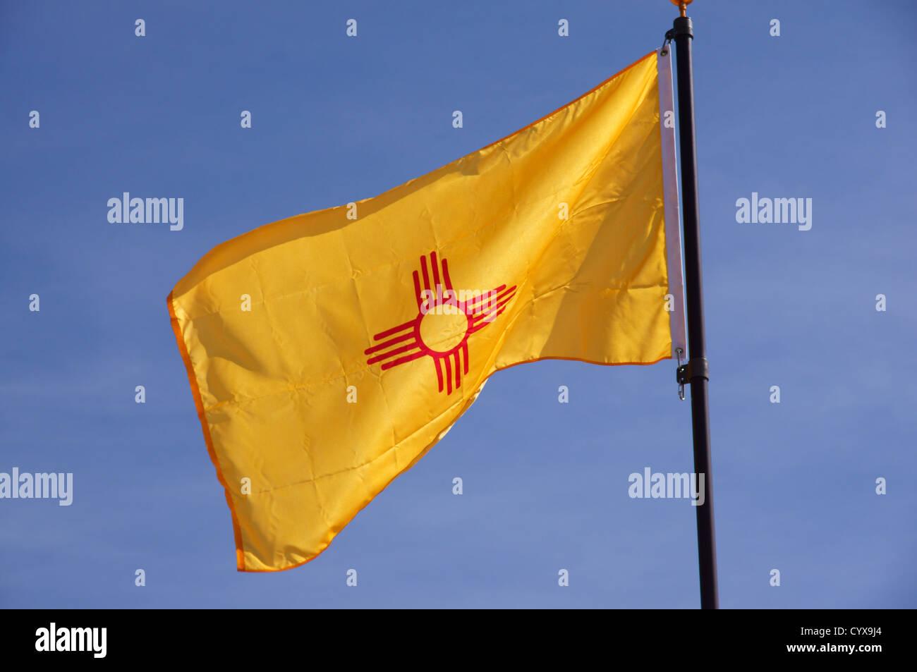 New mexico usa state flag yellow pennant symbol banner colors new mexico usa state flag yellow pennant symbol banner colors emblem ensign jack pennon standard streamer buycottarizona