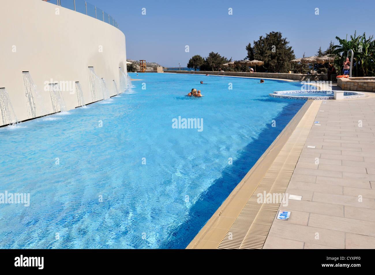Blue Lagoon Village Resort One Of Many Swimming Pools Kos Greece Stock Photo Royalty Free