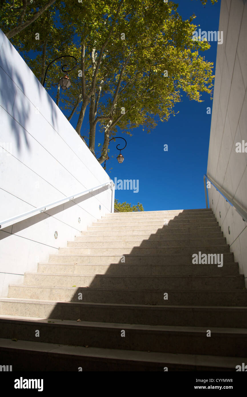 white stone stairs trees and classic lamppost Stock Photo, Royalty ... for Stone Lamp Post  28cpg