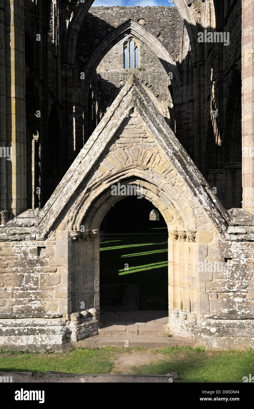 Tintern Abbey in the Wye Valley Monmouthshire Wales UK. Cistercian Christian monastery founded 1131. The south transept door & Tintern Abbey in the Wye Valley Monmouthshire Wales UK ... pezcame.com