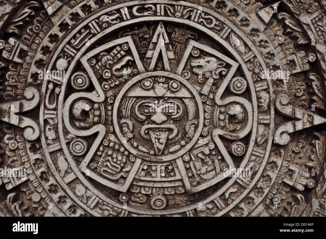 Ancient Mayan Calendar Stock Photo 51656375 Alamy