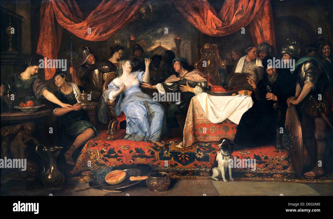 Jan Steen.dutch painter.1626-1679.The Feast of Cleopatra ...