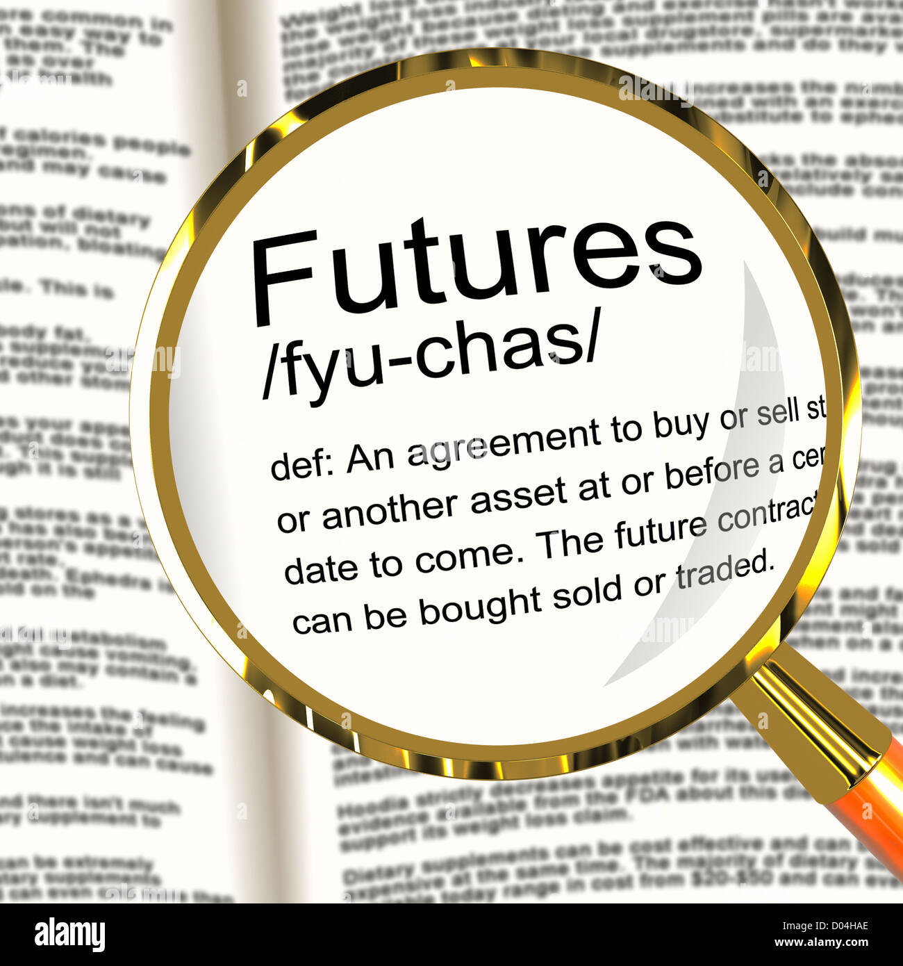 Futures Definition Magnifier Shows Advance Contract To Buy Or Sell How To  Make Money