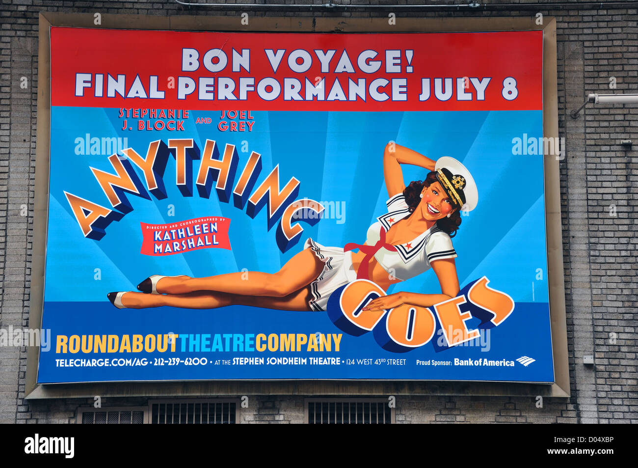 """Roundabout Theatre Company poster advertising """"Anything ..."""
