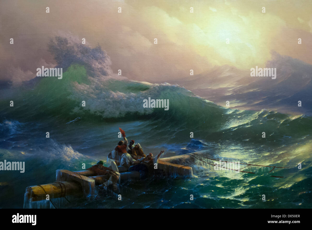 Stock Photo - Detail from 'The Ninth Wave' (1850) by Ivan Aivazovsky ...