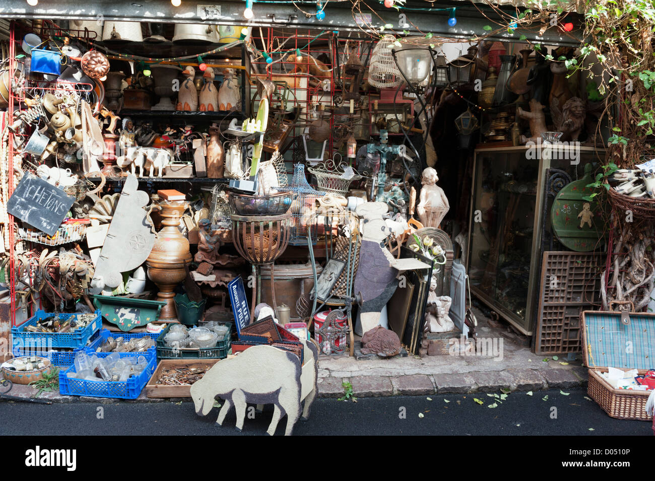 March aux puces flea market at st ouen near to clignancourt in the stock photo royalty free - Marche aux puces de saint ouen saint ouen ...