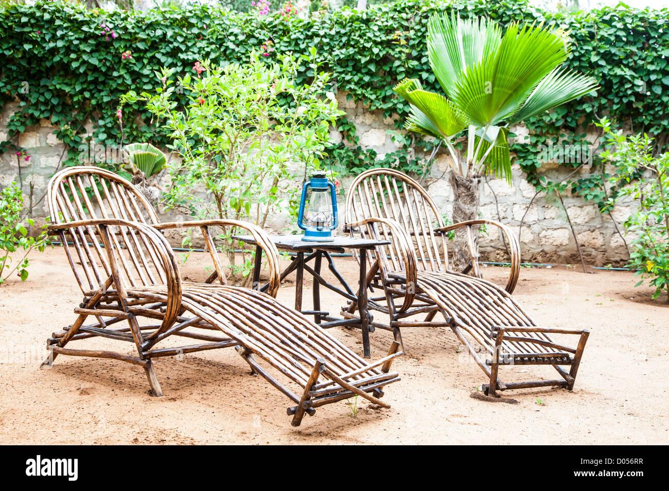 African Garden Furniture Kenya elegant furniture made of wood in an african garden stock elegant furniture made of wood in an african garden workwithnaturefo
