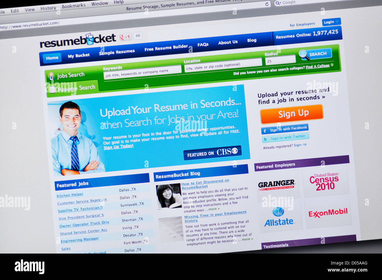 Resume bucket website online resume builder stock photo for Free resume building websites