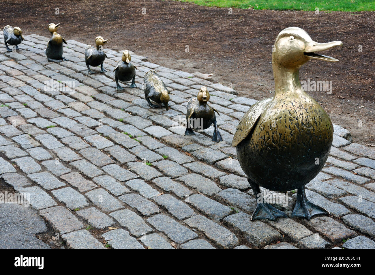 Make Way For Ducklings Bronze Sculpture In Boston Public Garden