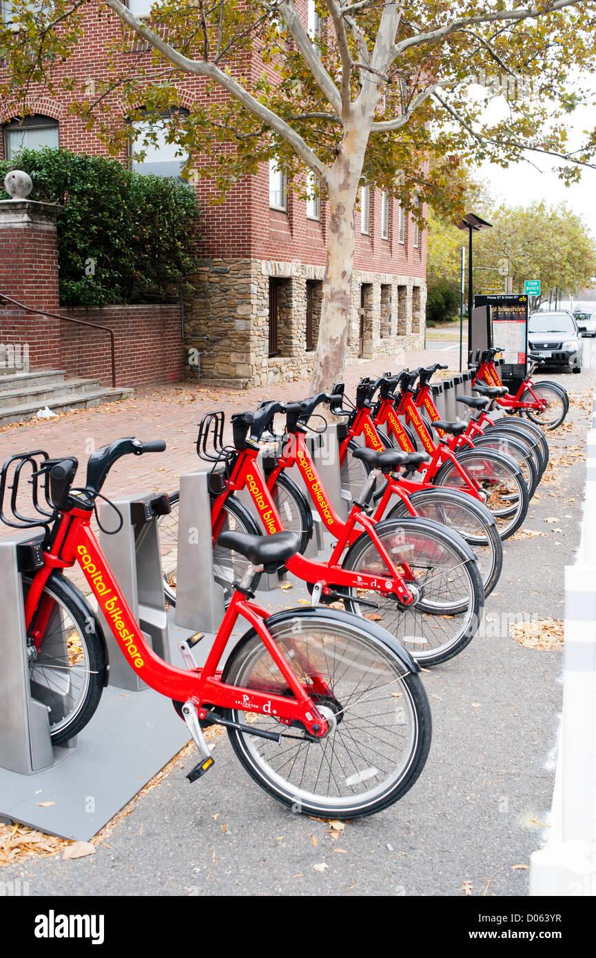Capital Bike Share Lot In Alexandria Virginia Bike Rental Stock
