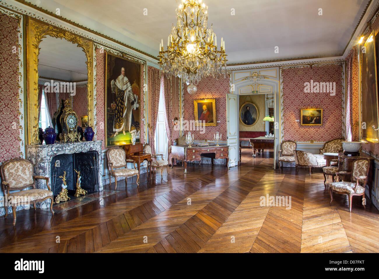 The great salon chateau de maintenon eure et loir 28 france stock photo royalty free image - Chateau de menetou salon visites ...