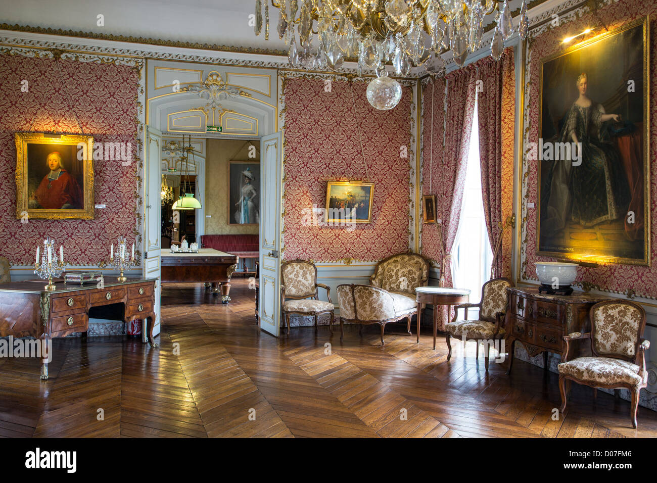 the great salon chateau de maintenon eure et loir 28 france stock photo royalty free image. Black Bedroom Furniture Sets. Home Design Ideas