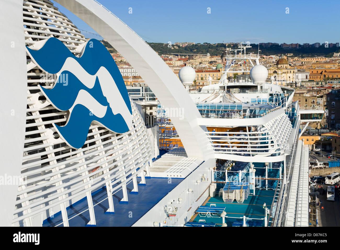 Princess Cruise Ship In Naples PortCampania Italy