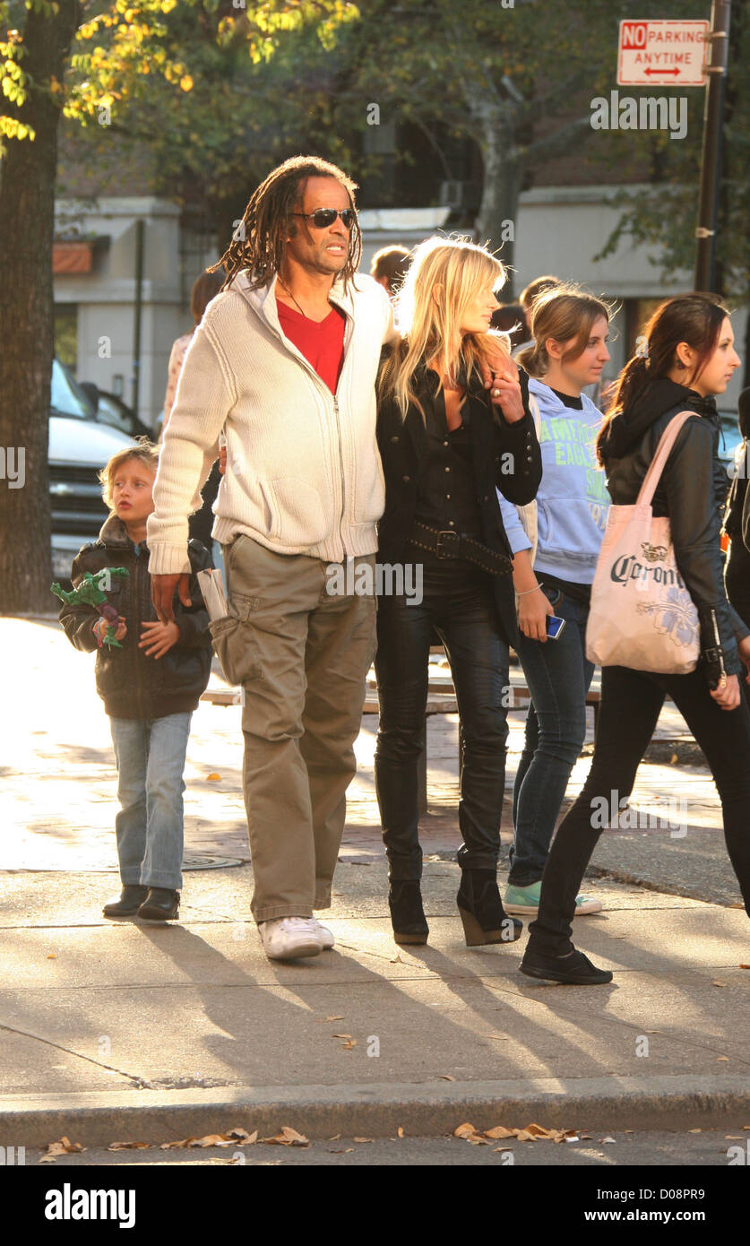 Ex Tennis player and musician Yannick Noah is seen strolling in