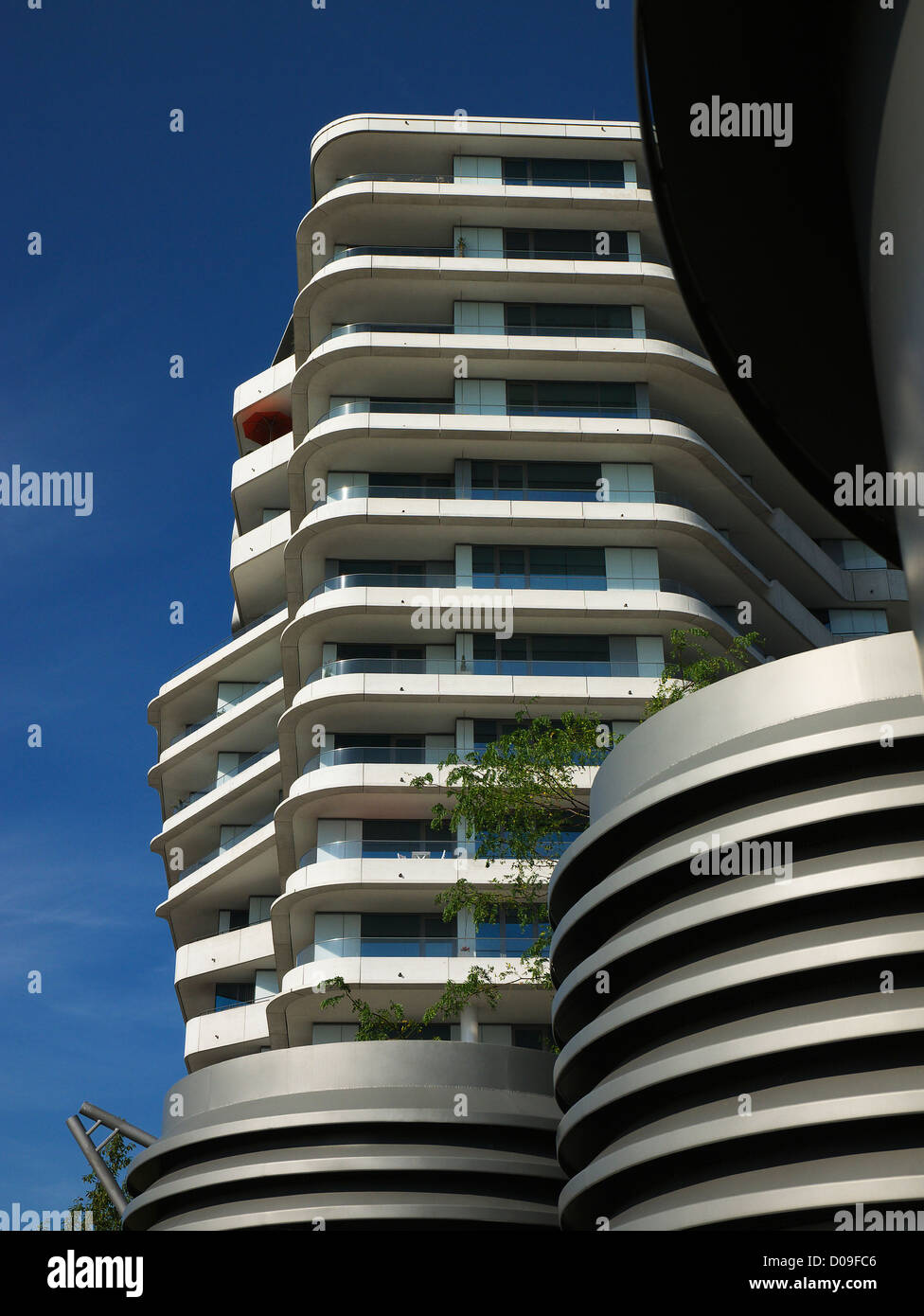 marco polo tower in the new hafencity in hamburg germany stock photo royalty free image. Black Bedroom Furniture Sets. Home Design Ideas