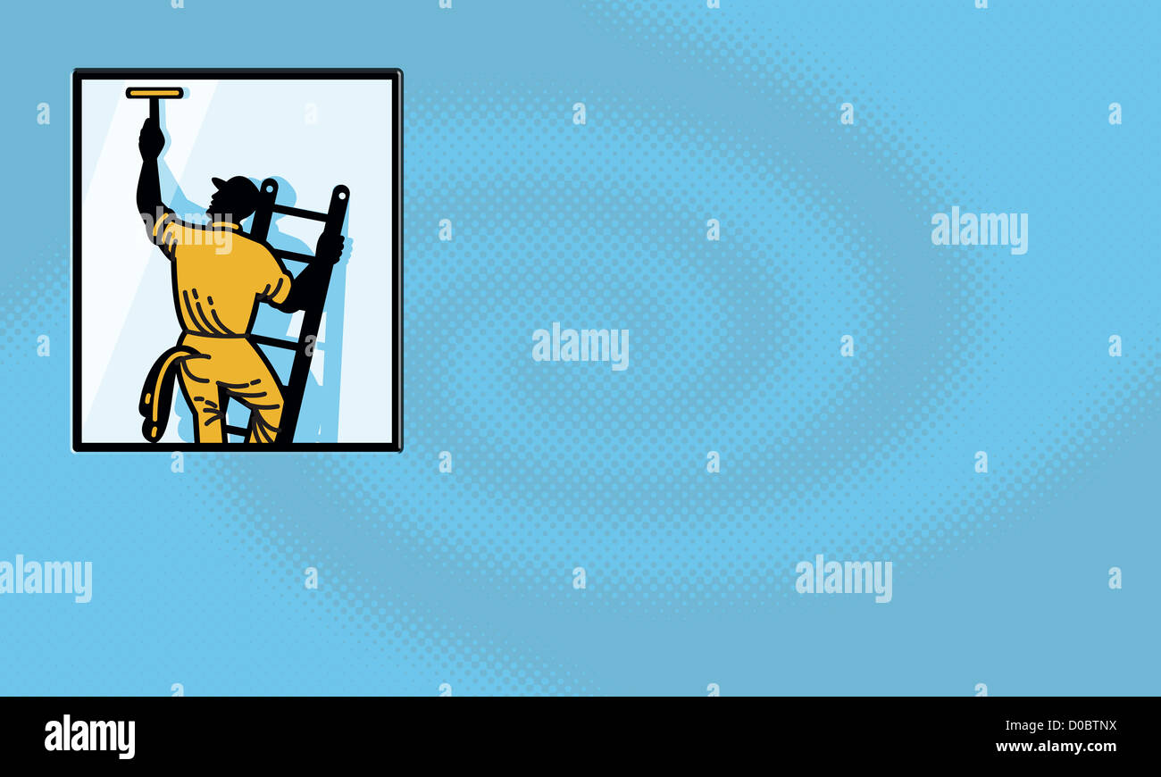 Business card for window cleaner cleaning company showing Stock ...