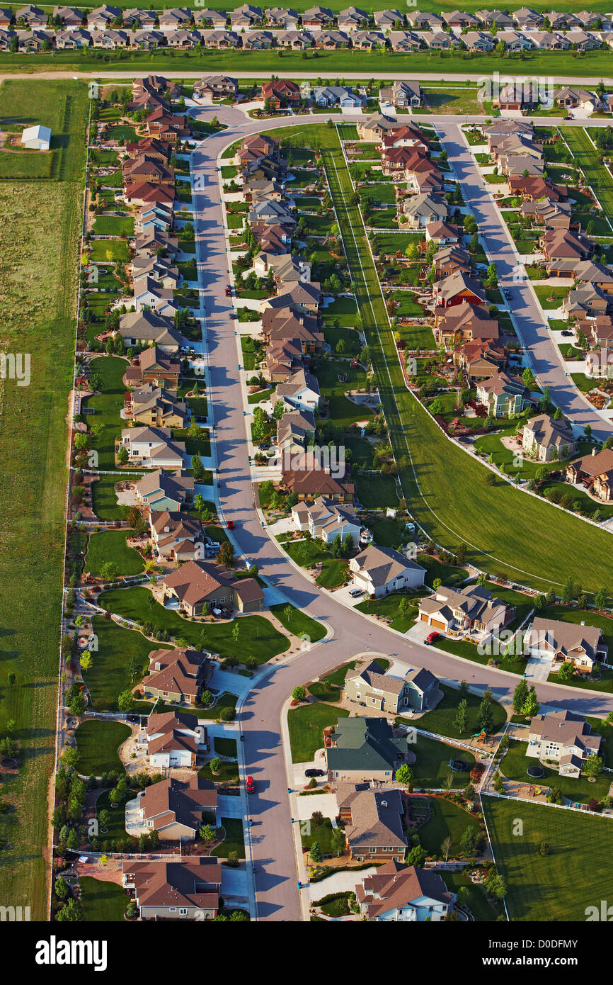 An Aerial View Of Tract Housing In A Suburban Housing