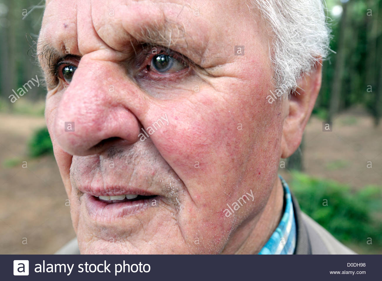 Superb Extreme Close Up Of A Senior Man In His 80S Stock Photo Royalty Hairstyles For Women Draintrainus
