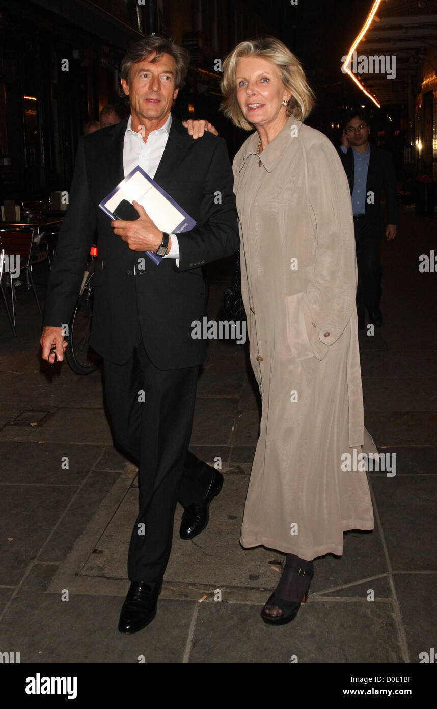 Nigel Havers And His Wife Georgiana Bronfman At The