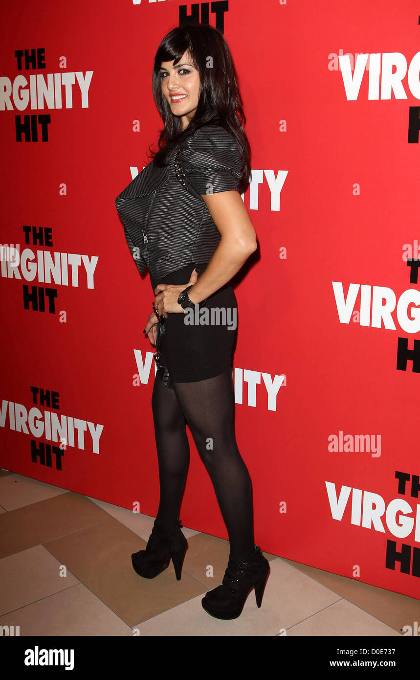 """sunny leone special kroq screening of """"the virginity hit"""" held at"""