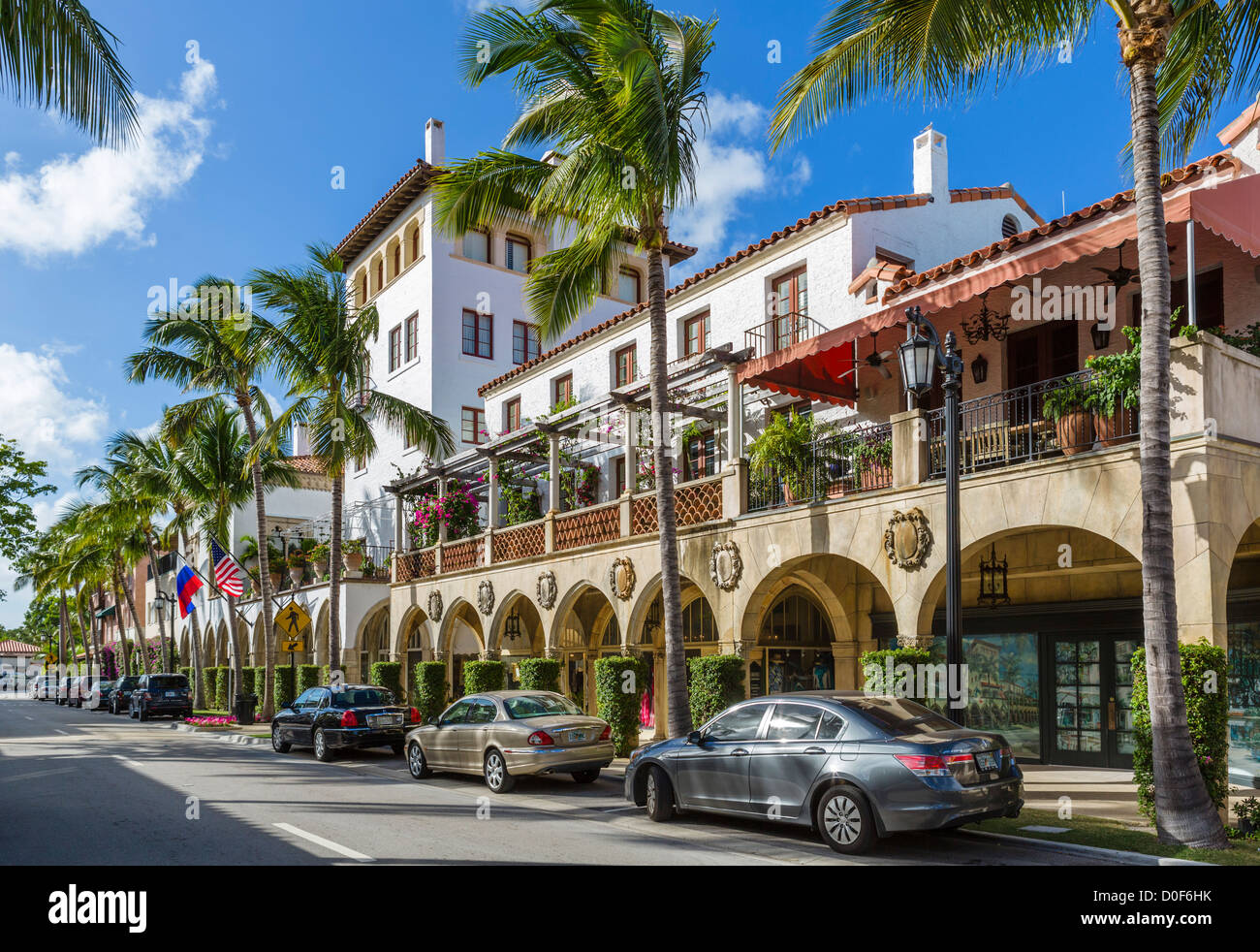 Stores On Worth Avenue In Downtown Palm Beach Treasure Coast Florida Usa