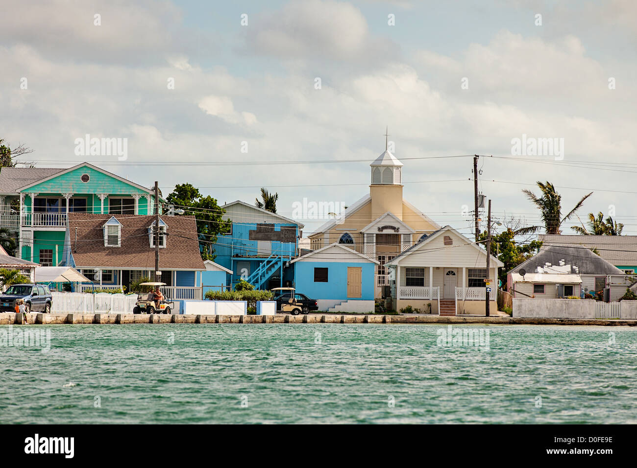 House rentals green turtle cay - Stock Photo The Loyalist Village Of New Plymouth Green Turtle Cay Bahamas