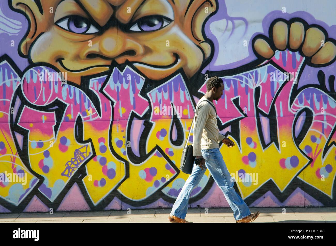 Graffiti wall uk - Graffiti On The Wall Ipswich Suffolk Uk Stock Image