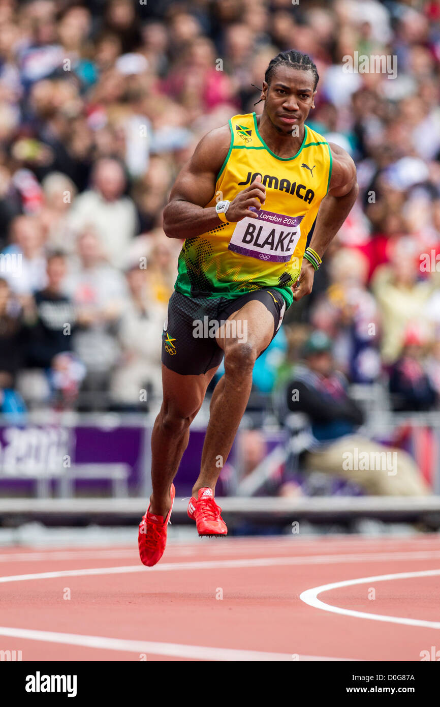 Yohan Blake (JAM) competing in the Men's 100m 1st round at the Stock Photo, Royalty Free Image ...