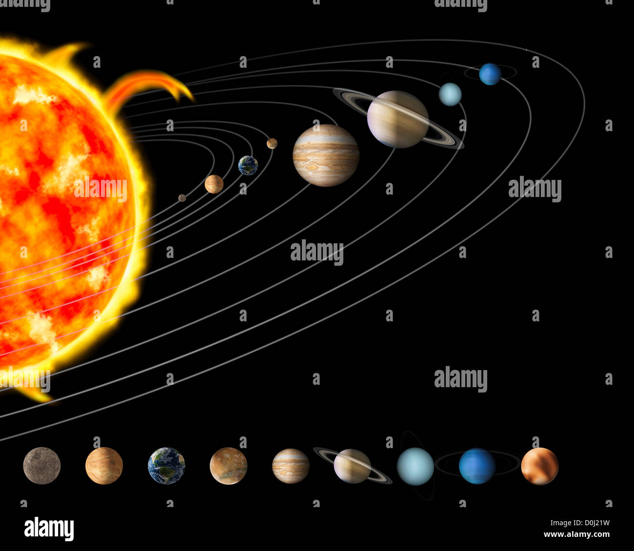 map our solar system without pluto - photo #42