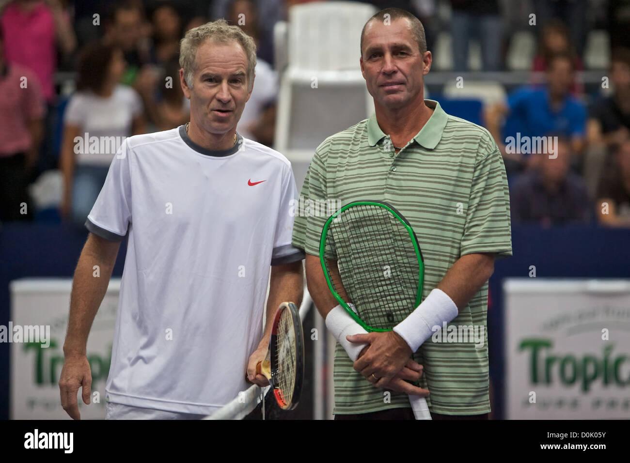 John McEnroe and Ivan Lendl The 7th Jean Luc Lagardere trophy