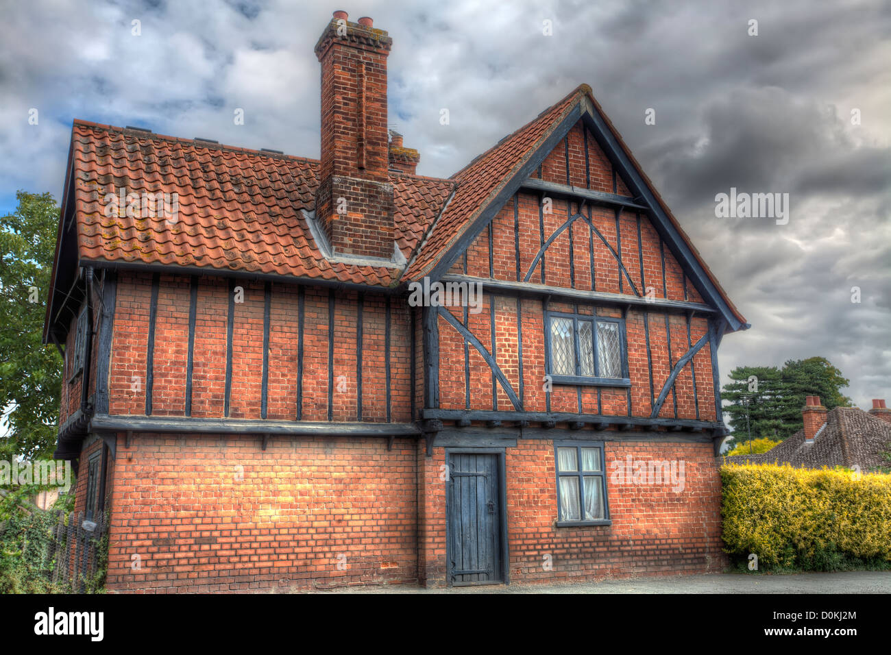 A timber-framed Tudor house in a rural Cambridgeshire ...