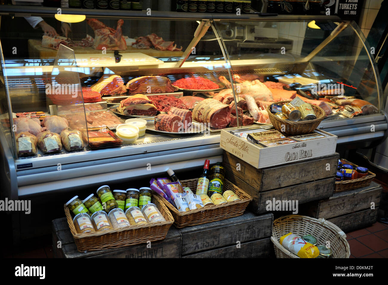 A Glass Chill Cabinet Of A Butchers Shop