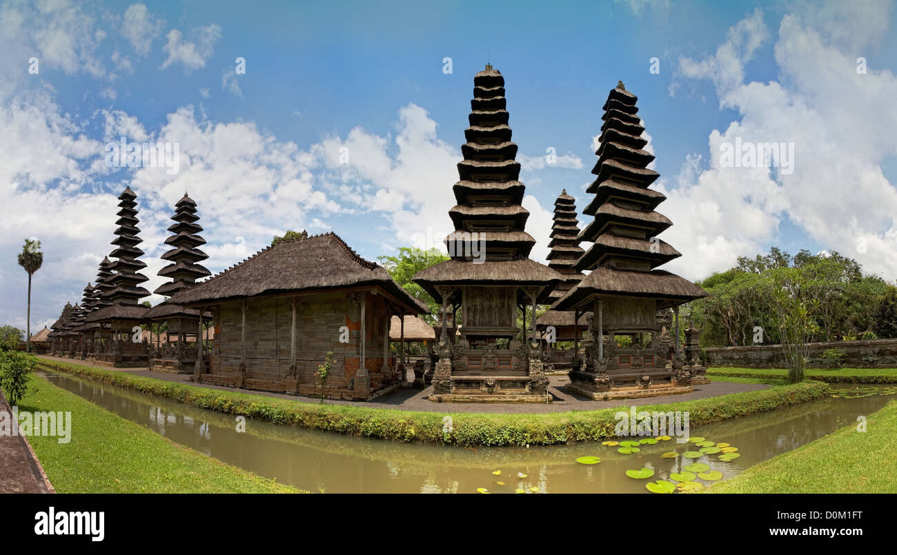 Panoramic View Of Royal Temple Pura Taman Ayun Mengwi Bali Stock