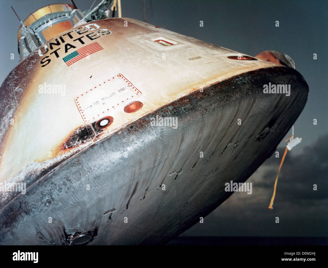 apollo command module as201 hoisted aboard uss boxer. Black Bedroom Furniture Sets. Home Design Ideas