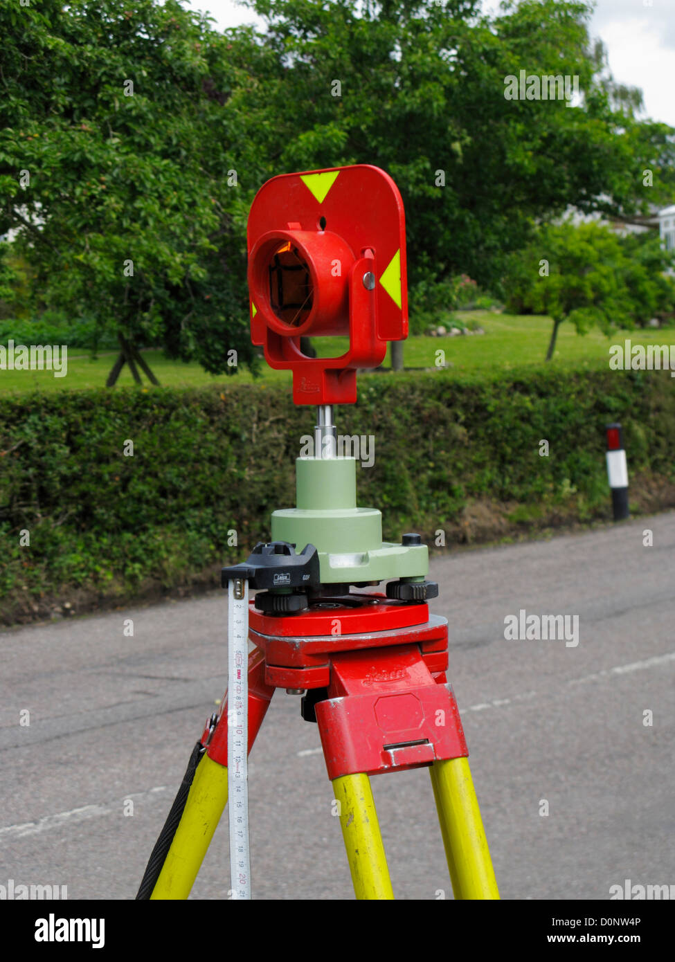 Surveying Electronic Distance Measurement : Target prism for a leica total station theodolite