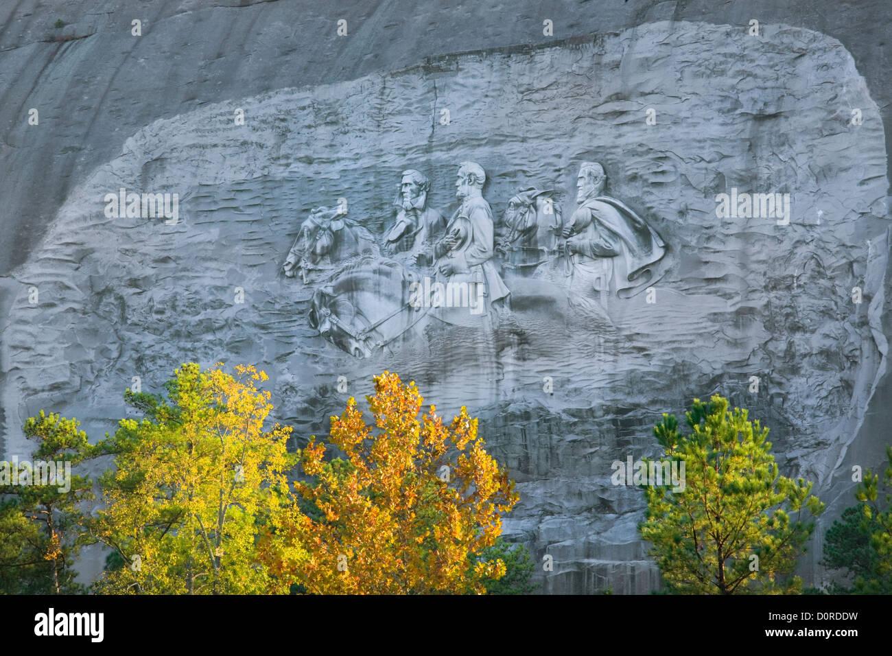 Ga georgia relief carvings of stonewall
