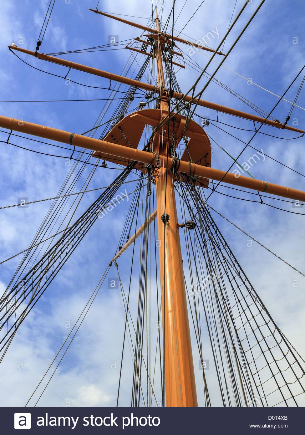 Main mast and rigging sailing ship stock photo 52161827 alamy main mast and rigging sailing ship sciox Gallery