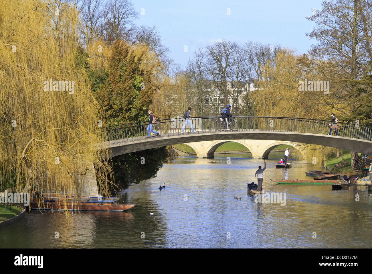 Cambridge Bridges Over The River Cam Stock Photo, Royalty ...