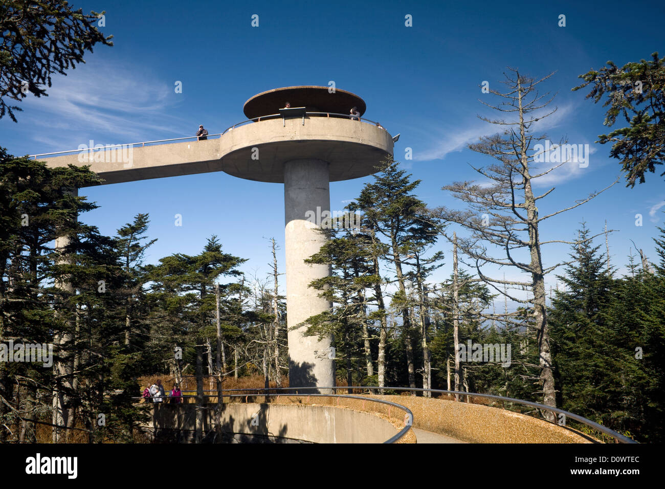Observation tower of Clingmans Dome along the Appalachian ...