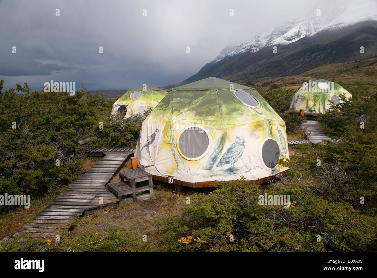 Geodesic dome tent at an eco c& in Torres Del Paine National Park Chile & Geodesic dome tent at an eco camp in Torres Del Paine National ...
