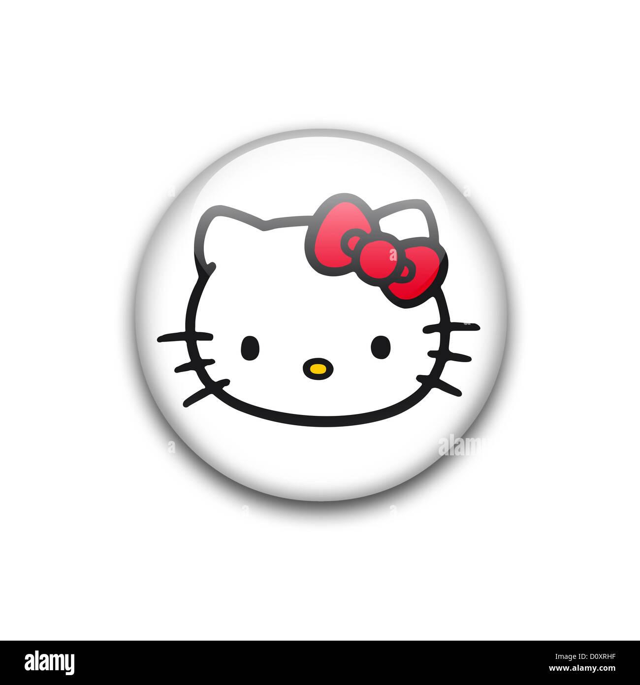 Hello kitty symbol logo icon stock photo 52220379 alamy hello kitty symbol logo icon biocorpaavc Image collections